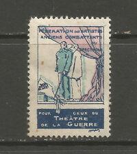 France/WWI National Federation of Veteran Artists DELANDRE charity stamp/label