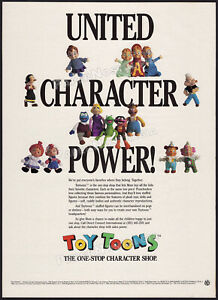 TOY TOONS__Orig. 1991 Trade AD / ADVERT_poster__Muppets_Alvin & Chipmunks_Popeye