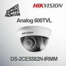 Hikvision 600 TVL Color Dome Camera 2.8mm Lens DS-2CE5582N-IRMM Analog Indoor