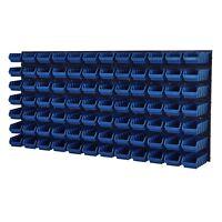 Stapelboxen Werkzeugwand 84 Boxen Montagewand Blau