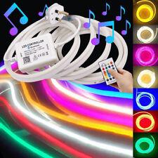 230V 5050 RGB LED Neon Flex tira de Luz Lámpara de aplicación de teléfono signo Bluetooth Controlador