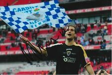 CARDIFF CITY HAND SIGNED ROGER JOHNSON 6X4 PHOTO.