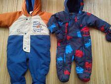 NICE BHS M&S 2x AUTUMN WINTER BABY BOY JACKET SNOWSUIT 3/6 MTHS 3/6+ MTHS