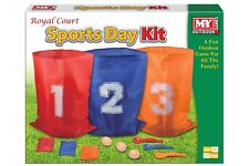 3 in 1 Sports Day Kit Sack Race Egg and Spoon Race Set Bean Bag Toss Fun Outdoo