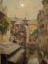 Aquarelle Vue d' Annecy signée Georges Jéramec 1932