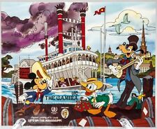 Disney Ics Stamp, Mnh with Coa. Life on the Mississippi. Mickey, Donald & Goofy.