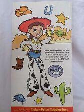 McDonalds Kid's Happy Meal Bag of Toy Story 2 Jessie, Woody, Buzz 1999