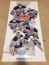 New 2016-2017 Inaugural Season Edmonton Oilers Poster Mcdavid Talbot