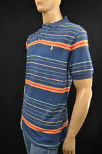 Ralph Lauren Classic Fit Blue,Orange,Green Stripe Mesh Polo Shirt/ Pony-NWT