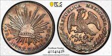 MEXICO REPUBLIC MEXICO CITY MINT 1863-MoTH  8 REALES COIN, CERTIFIED PCGS AU DET