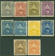 EDW1949SELL : NICARAGUA 1898 Scott #109B-109M Very Fine, Mint OG Catalog $203.00