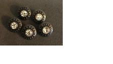 5 Rhinestone Harley-Davidson Buttons For Shirt Or Pants - Really Nice