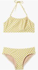Toobydoo Sunshine Dot Yellow Halter Top Swimset Youth Big Girls Sz 13/14 ZP-4244