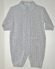 MEXX Size 2-4 Months Boys Gray Long Sleeves Collar Snap Crotch Bodysuit