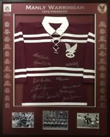Blazed In Glory - Manly Warringah 1972 Premiers  - NRL Signed & Framed Jersey