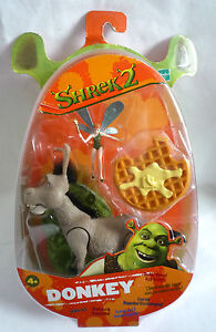 SHREK 2 FIGURE / DONKEY FIGURE  / HASBRO 2004 / RARE / STILL SEALED