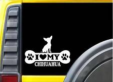 Chihuahua Bone L077 8 inch Sticker chihuahua dog decal