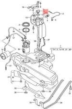 Genuine VW Fuel Tank Cap NOS VW AUDI Bora Variant 4Motion Corrado 1H0201553B