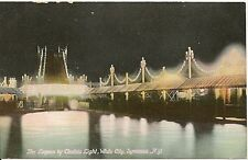 Lagoon at White City by Electric Light Syracuse NY Postcard Amusement Park