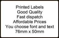 Personalised printed sticky- self adhesive WHITE labels x 50 - you choose text