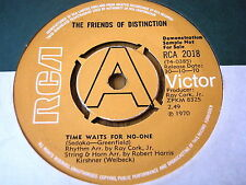 """THE FRIENDS OF DISTINCTION - TIME WAITS FOR NO ONE   7"""" VINYL DEMO"""