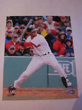 Dustin Pedroia Boston Red Sox Front View Action Shot 8x10
