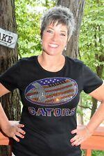 Gators football rhinestone  bling shirt XS S M L XL XXL 1X 2X 3X 4X 5X