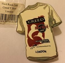 """Limited Edition"" Hard Rock Cafe HRC LONDON ""CREED T-Shirt"" PIN #188"