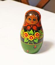 Handmade Matryoshka Nesting Dolls w Flowers 6 Piece Russia