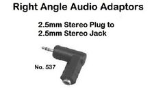 New listing Right Angle Audio Adapter - 2.5mm Stereo Male to 2.5mm Stereo Female
