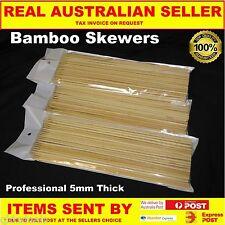 BAMBOO SKEWERS X 2000pcs 450 X 5 MM  SPIRAL TORNADO POTATO BBQ SATAY FONDUE