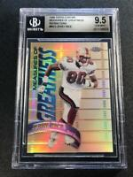 JERRY RICE 1998 TOPPS CHROME #MG3 MEASURES OF GREATNESS REFRACTOR BGS 9.5 POP2