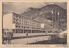 # CASSINO: BADIA DI MONTECASSINO VISTO DA PIAZZA DEL TRIBUNALE - 1955