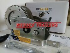 MAYPOLE PROFESSIONAL TRAILER HAND WINCH 2500-3700LB CAPACITY WITH HAND BRAKE