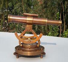Nautical Survey Alidade Decor Antique Brass Theodolite Marine Compass Maritime