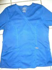 Cherokee workwear galaxy blue scrub top M