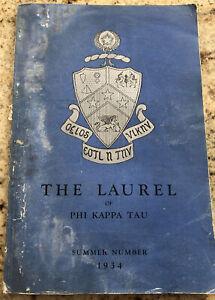 Phi Kappa Tau ΦΚΤ Laurel Summer 1934