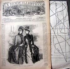 LA MODE ILLUSTREE + PATRON,  n° 24/1884 Voir modèles à réaliser, FRENCH PATTERN
