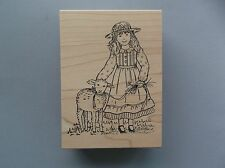 PEDDLER'S PACK RUBBER STAMPS GIRL WITH LAMB EASTER NEW STAMP