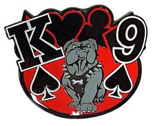 K9 Card Guard w/ King and 9 of Spades Decoration for Casino Games
