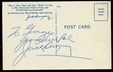 Jack Dempsey Post Card signed auto (WI)