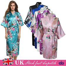 Silk Satin Kimono Robe Dressing Gown Wedding Bridesmaid Sleepwear Bathrobe