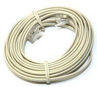 25FT Telephone Line Cord RJ11 Connector Landline Home Phone Modem Router Cable