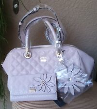 NWT GUESS Jordyn Satchel Handbag & Wallet Set Color Cameo Pink Authentic
