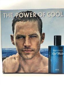 Cool Water by Davidoff 3pc Set 4.2 oz EDT Spray for Men (Paul Walker), Rare!