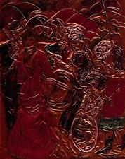 """""""THE UMBRELLAS"""" BY RENOIR rendered by Ruth Freeman ETCHED COPPER FOIL 8"""" X 10"""""""