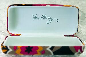 Ret Vera Bradley Carnaby Hard Sunglasses Case Clamshell Pink White Orange Brown
