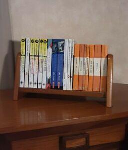 Vintage Bookshelf, Solid Timber Desk/ Tabletop Retro Book Display Shelf