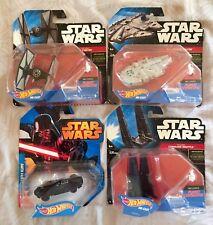 Star Wars Hot Wheels Darth Vader, Millennium Falcon, Command Shuttle & Fighter