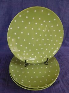 Nantucket Home DINNER PLATE Green with White Polka Dots 1 of 3 available